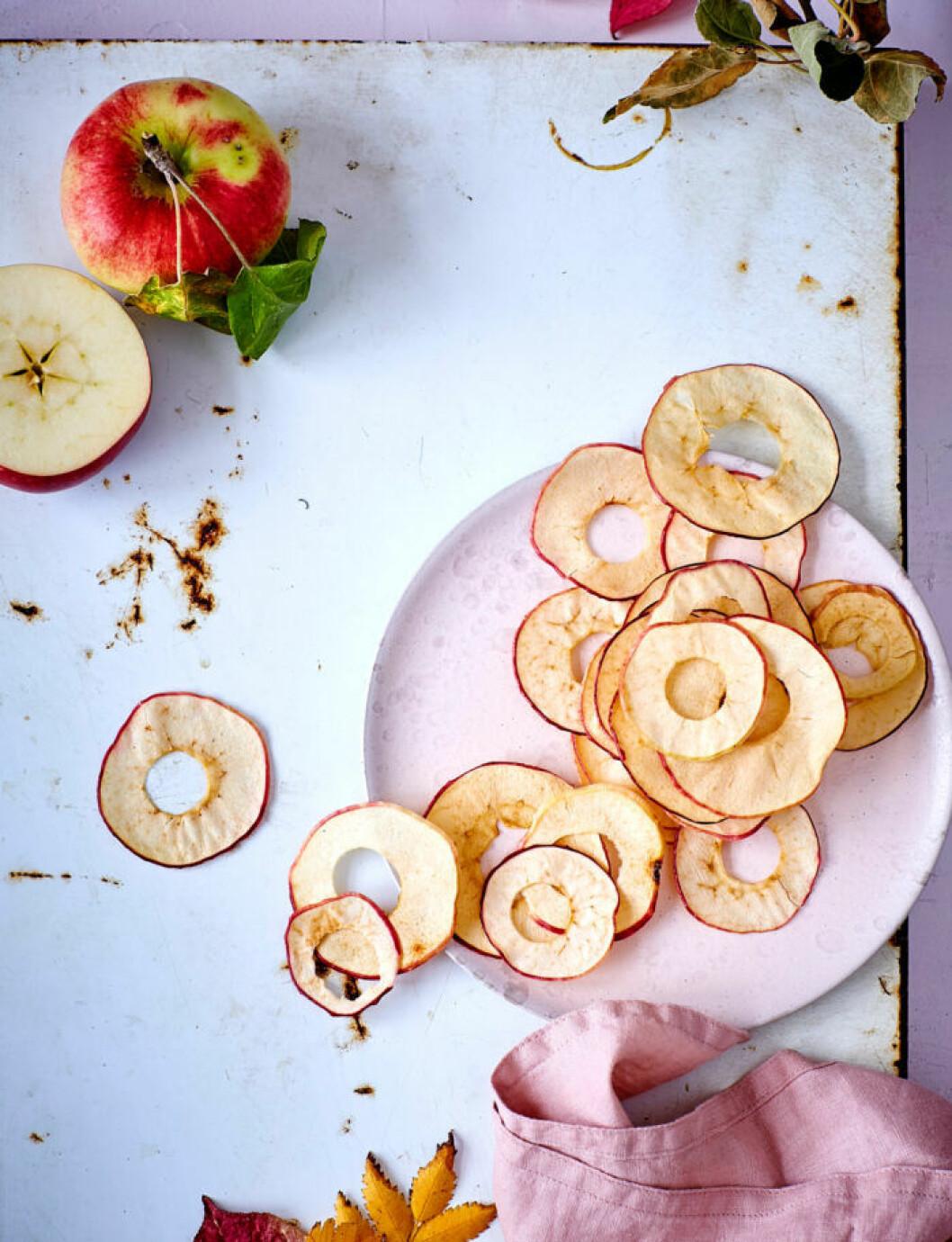Recept på handgjorda äppelchips