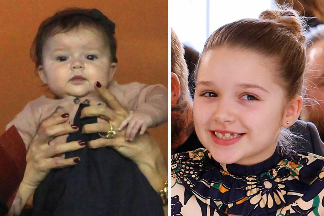 Harper Beckham som bebis och idag 2020