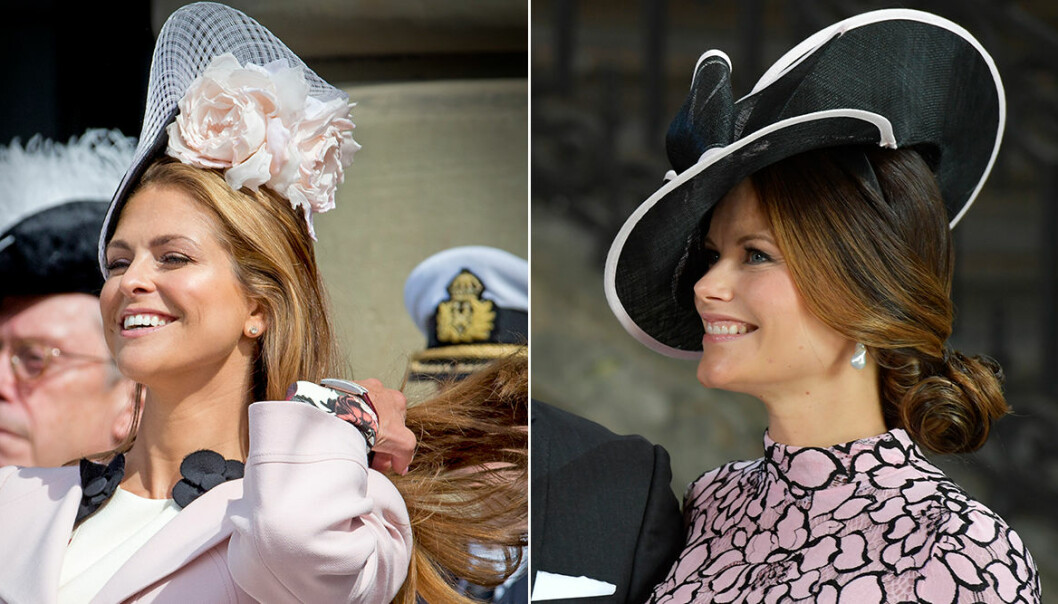 Madeleine och Sofia i hatt