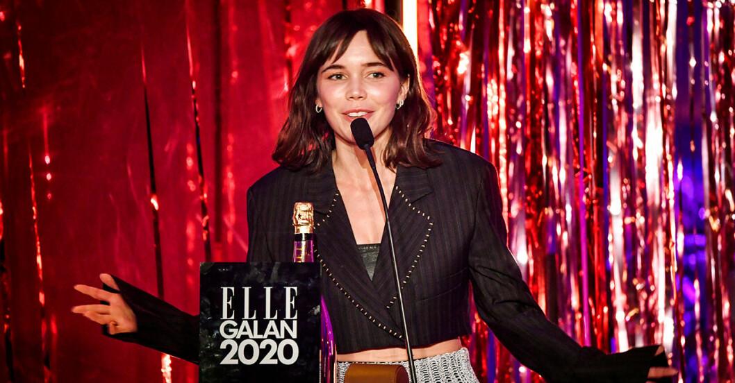 Hedda Stiernstedt Elle-galan 2020
