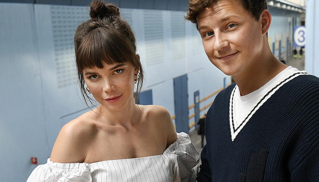 Hedda Stiernstedt (Nina) och Charlie Gustafsson (Calle)