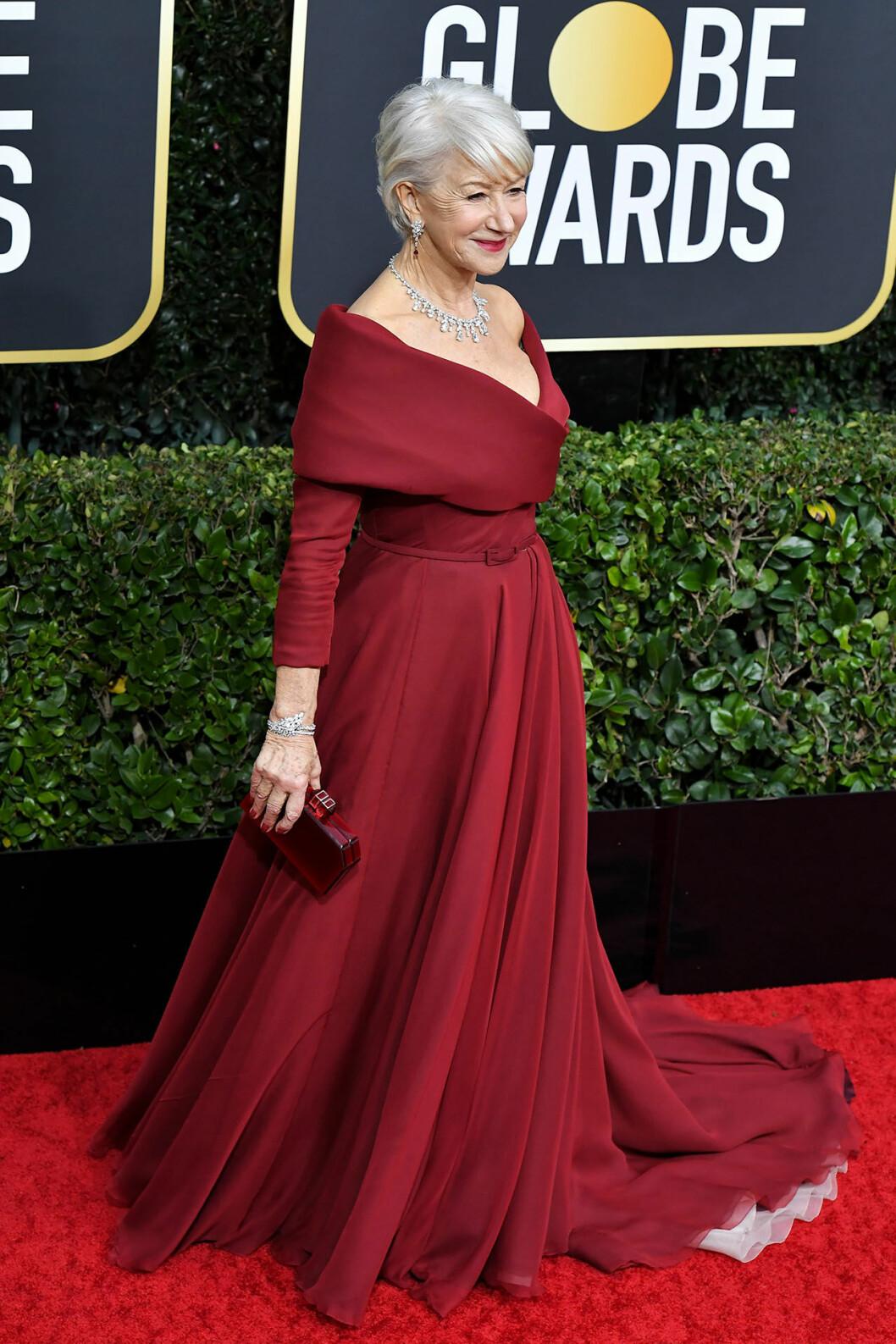 Helen Mirren Golden Globes