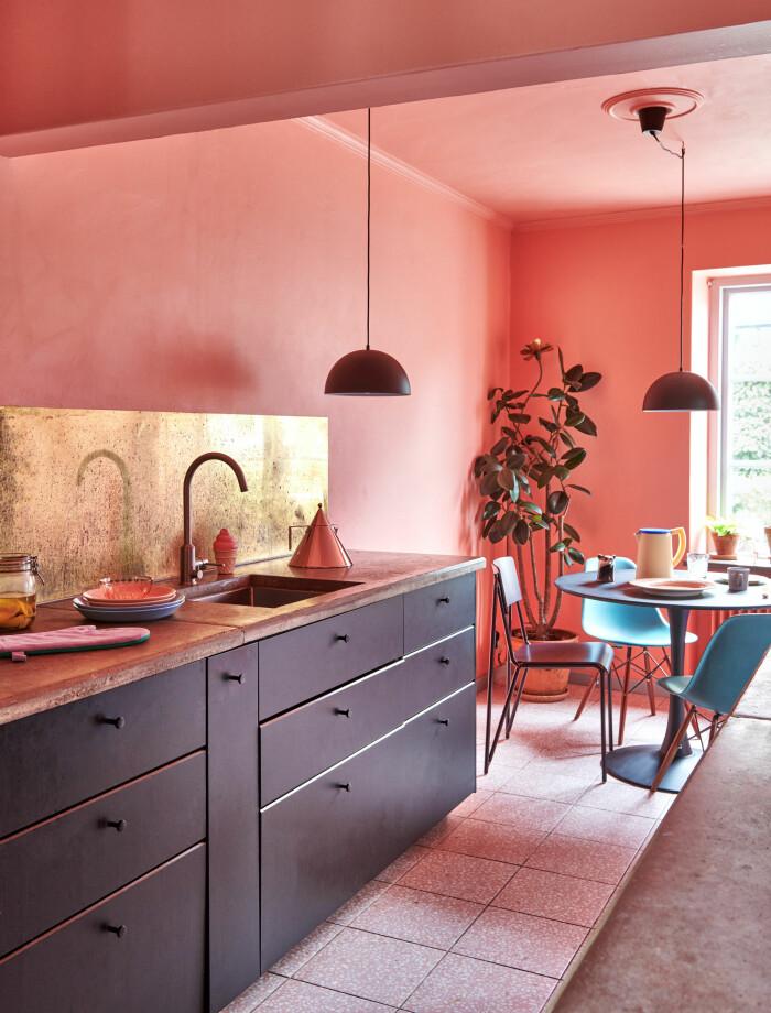 Hemma hos Camilla och Karl i Råå Elle Decoration köket