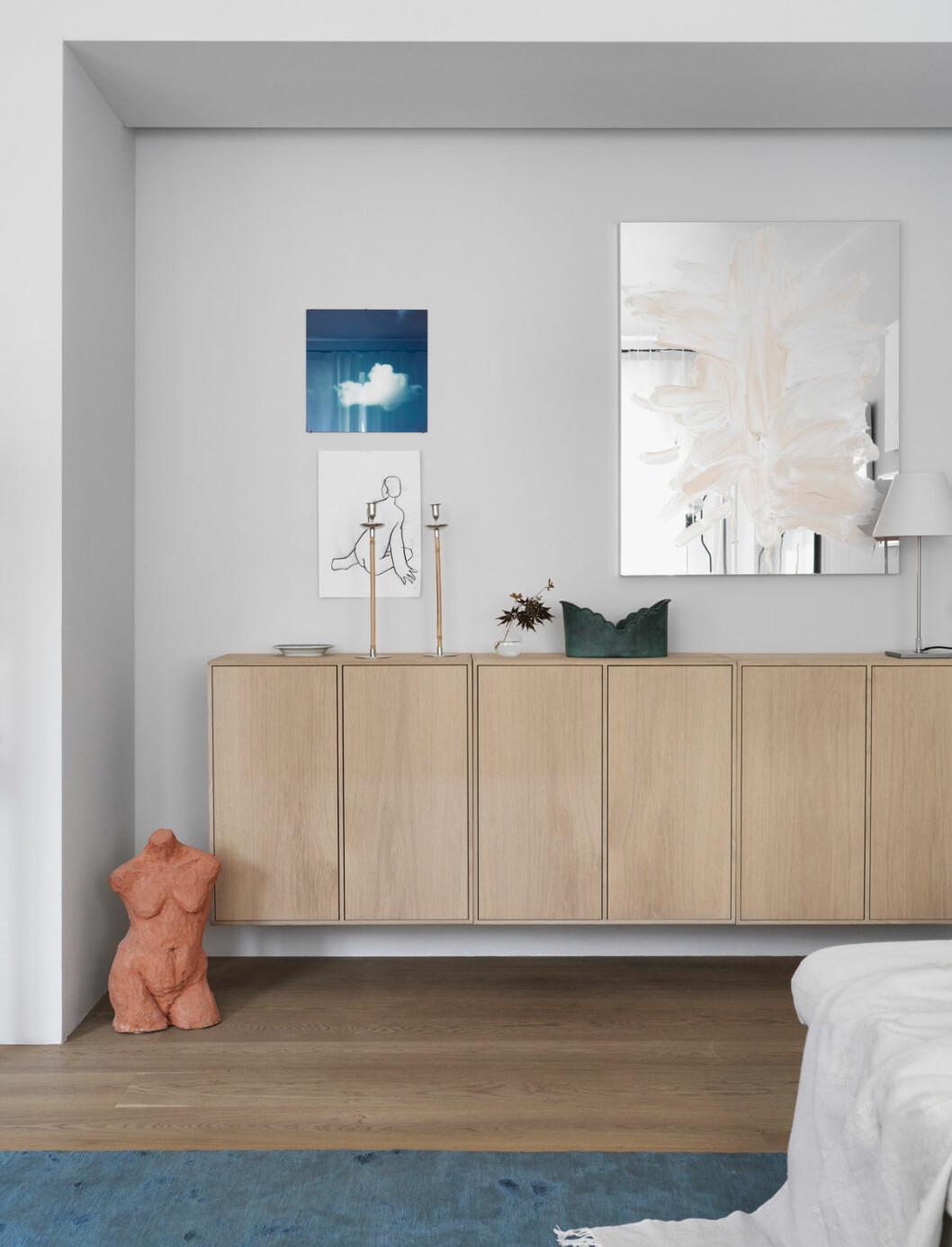 Hemma hos Mia Lagerman Köpenhamn sovrum skåp