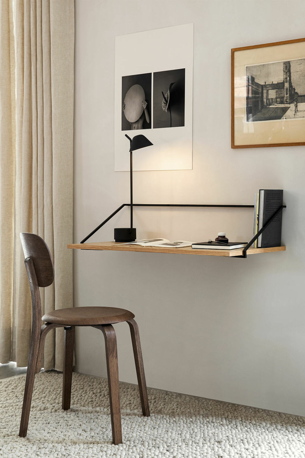 Vägghängt skrivbord från Menu