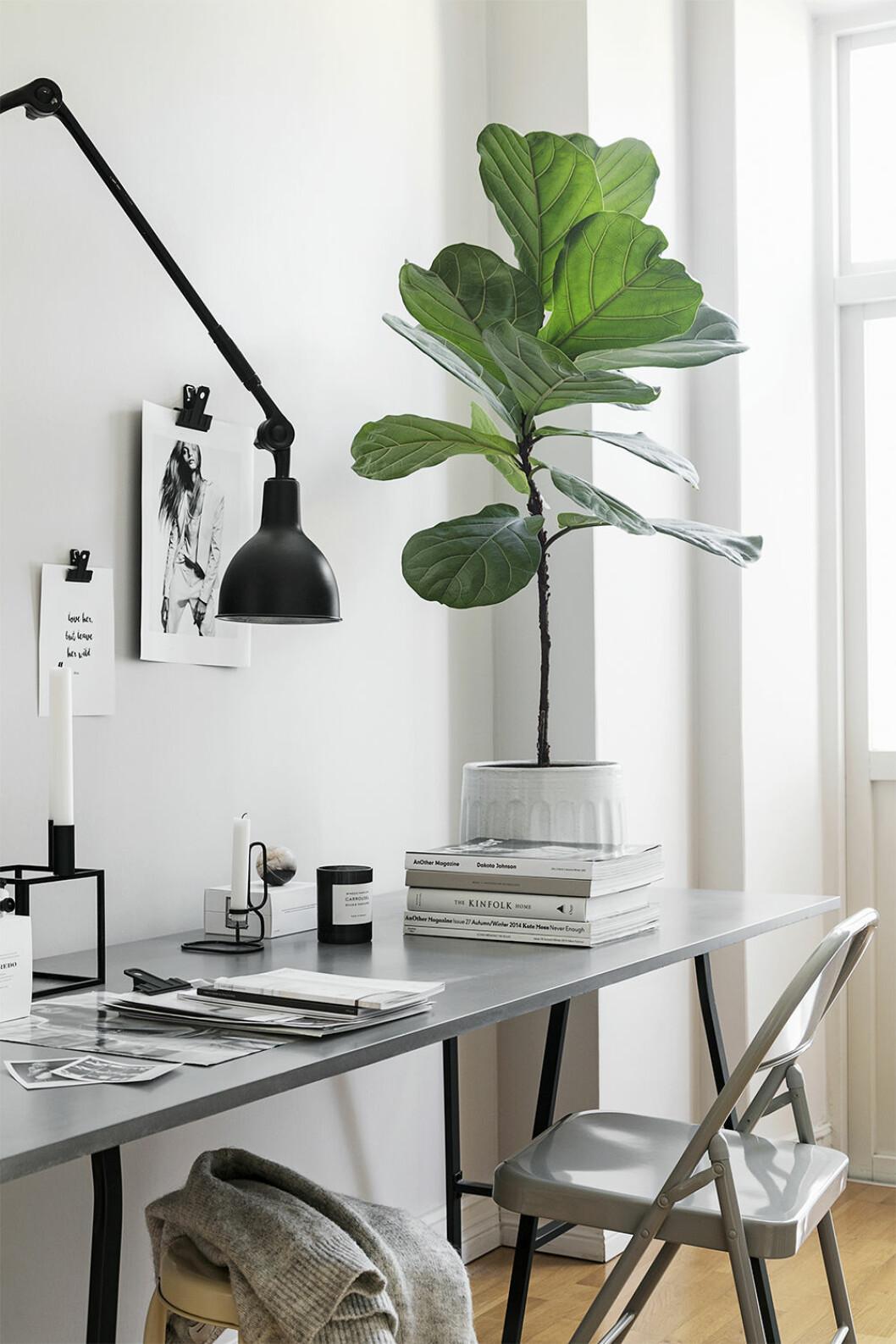Skrivbordsplats att inspireras av hos Maria Karlberg