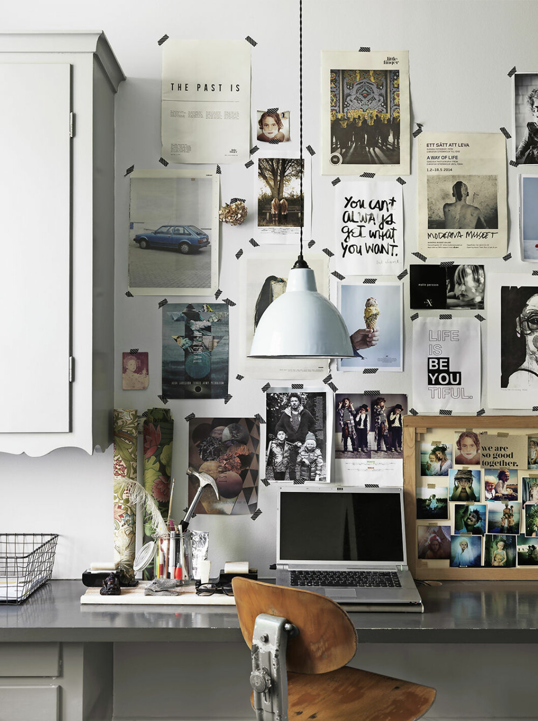 Inspirerande arbetshörna hemma hos Malin Persson