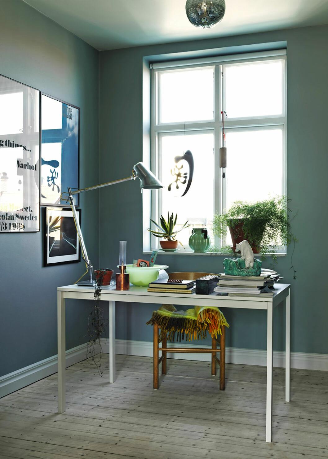 Färgglatt hemmakontor hos Sofia Linfeldt