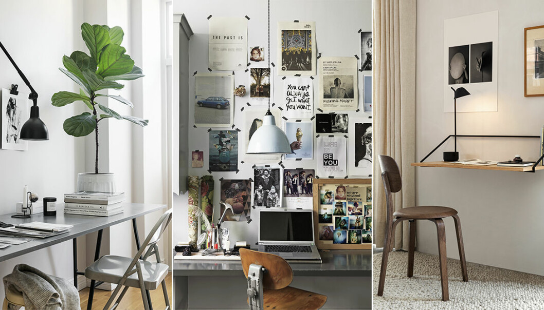 inspiration till hemmakontor och arbetshörna i hemmet