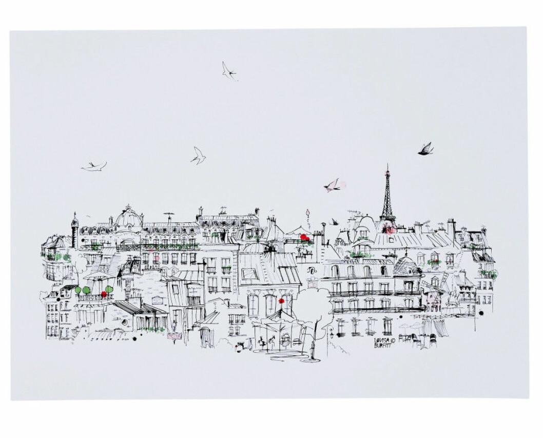 Hemtex-Var-2016-Lovisa-Burfitt-Poster-Ciel-Paris-50x70cm-599kr