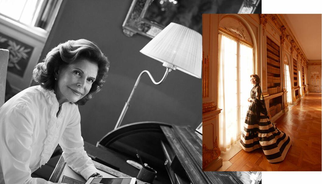 Drottning Silvia fotograferad av Camilla Åkrans
