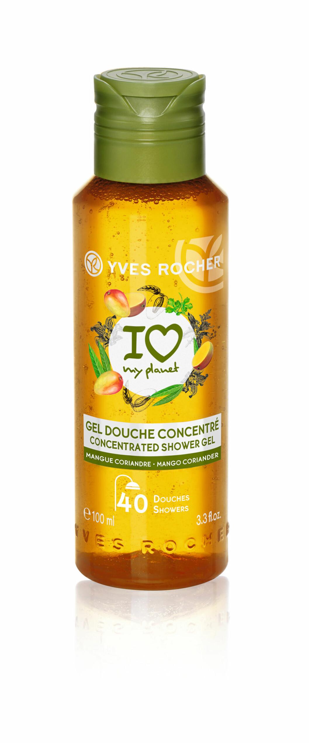 Härlig duschgel med en ljuvlig doft av mango och koriander från Yves Rocher.