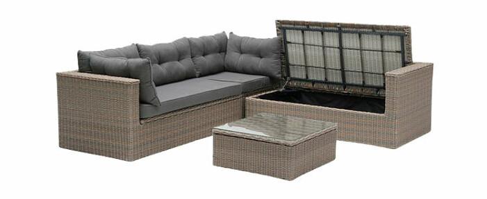 utemöbler med förvaring soffa