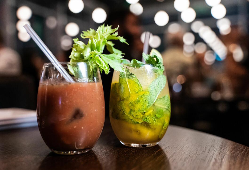 Varför inte beställa in en Bloody Heaven som fördrink innan maten?