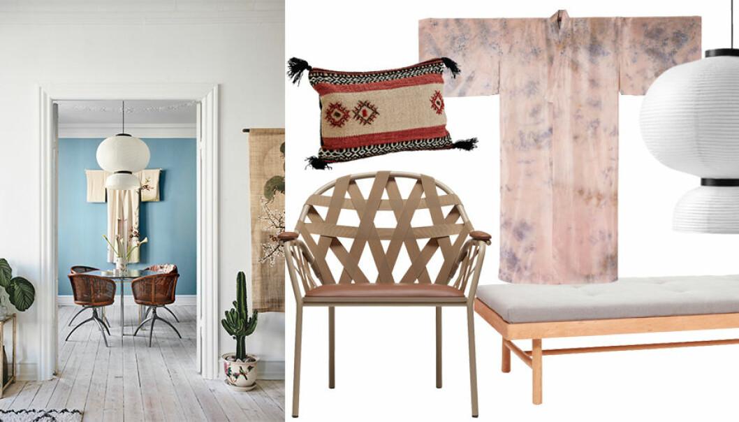 En mix av dansk inrednings och japansk minimalism .