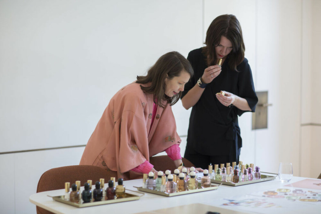 H&M Beautys konceptdesigner Sara Wallander och ELLEs Carin Hellman