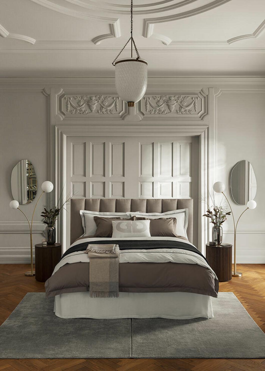 Sovrum med hotellkänsla i H&M Homes Classic Collection-kampanj