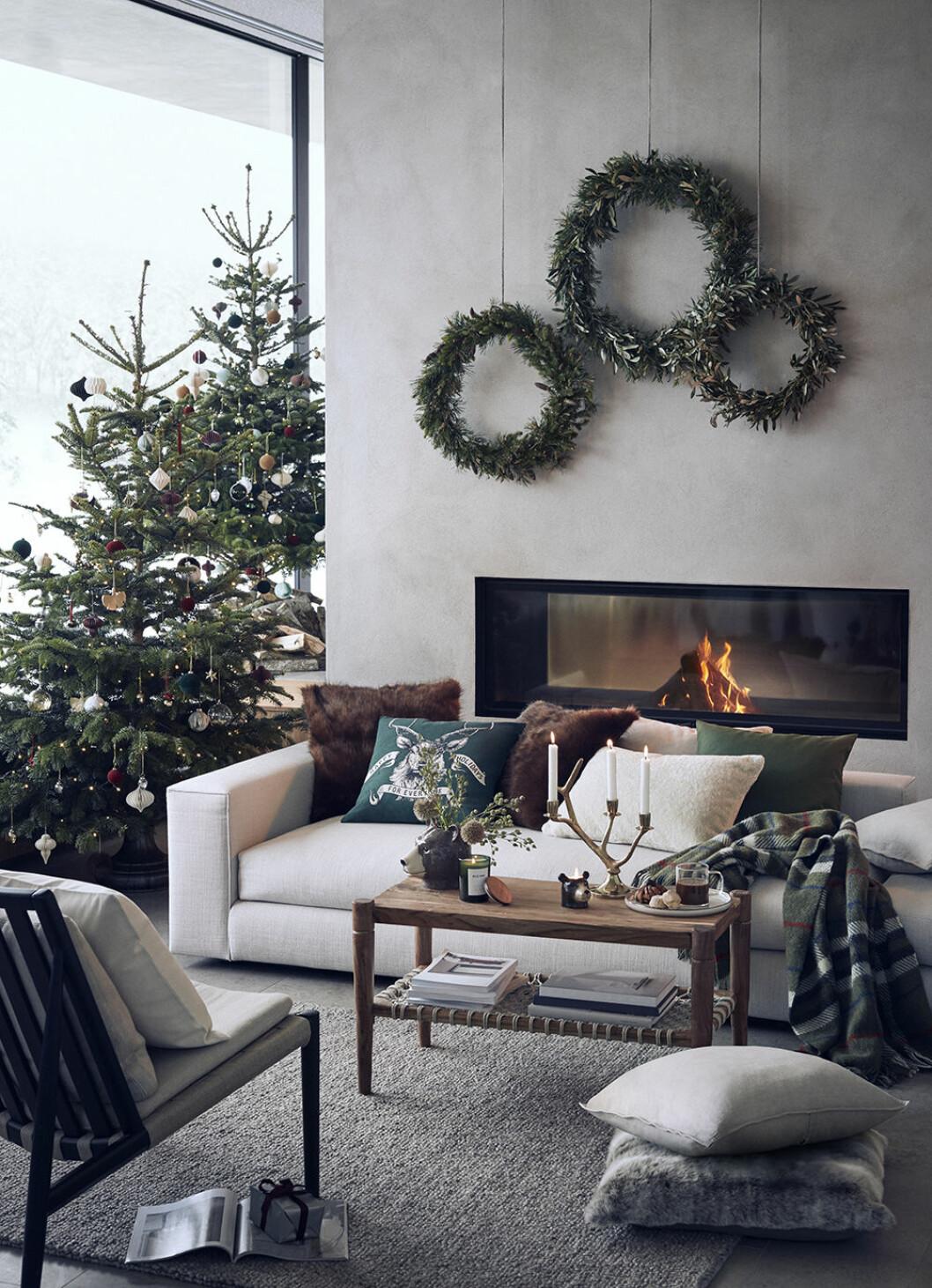 Naturnära och rustikt hos H&M Home i jul