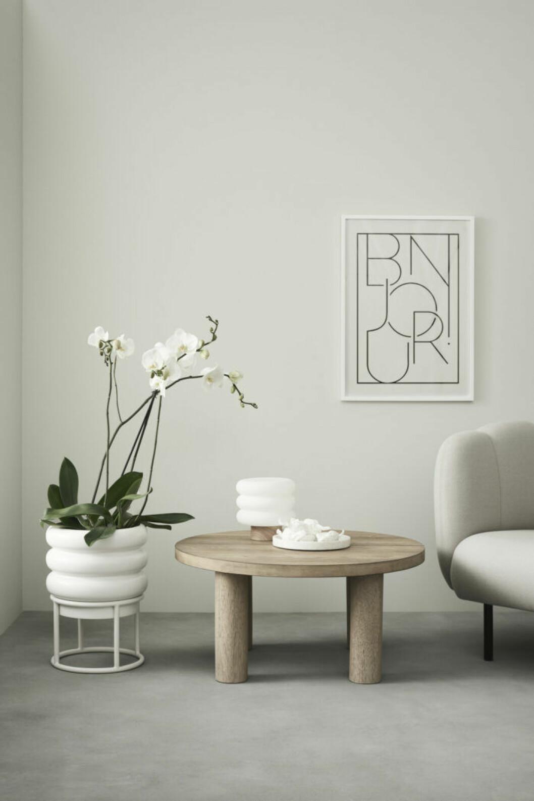 Kruka, lampa och soffbord från H&M Homes möbelkollektion våren 2019