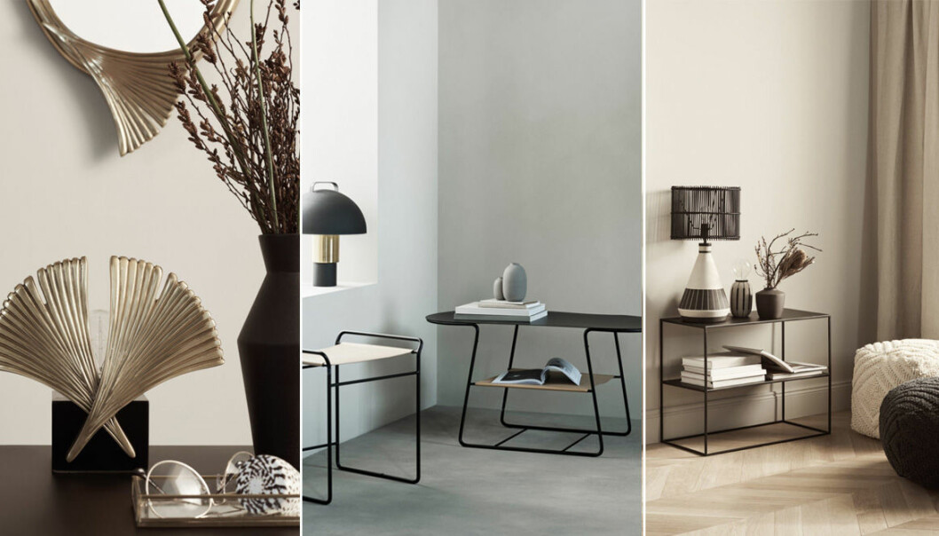 hm home möbler lampor