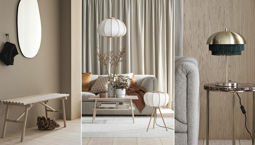 Möbler och lampor från H&M Homes höstkollektion 2019