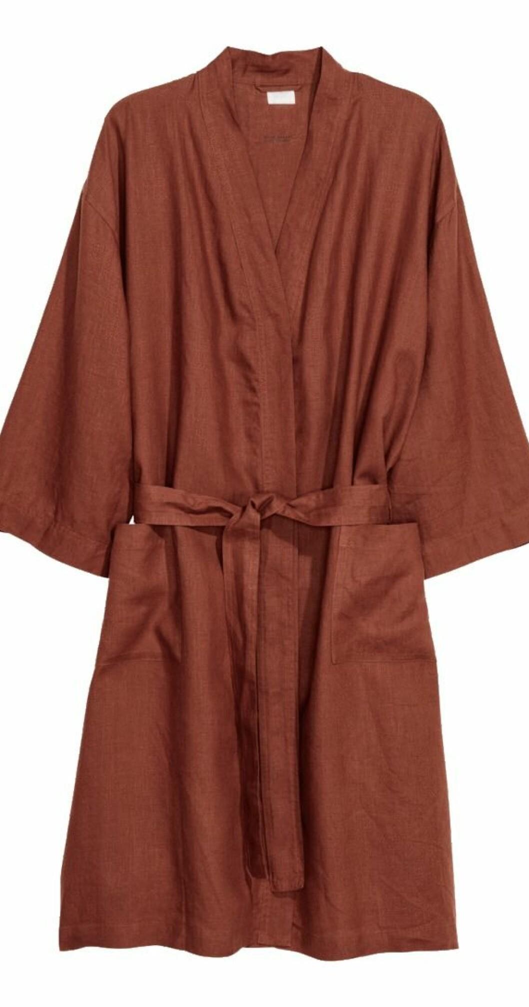 Morgonrock i tvättat linne från H&M Home
