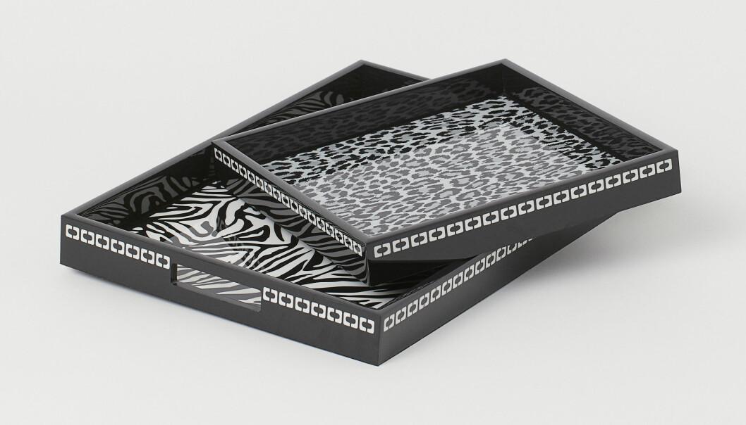 H&M home x Diane von Furstenberg djurmönstrade brickor