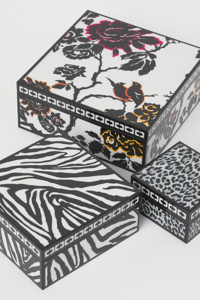 H&M home x Diane von Furstenberg tre skrin i lackat trä
