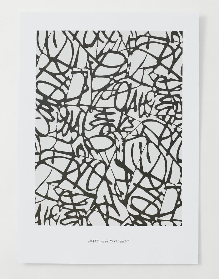 H&M home x Diane von Furstenberg svartvit poster