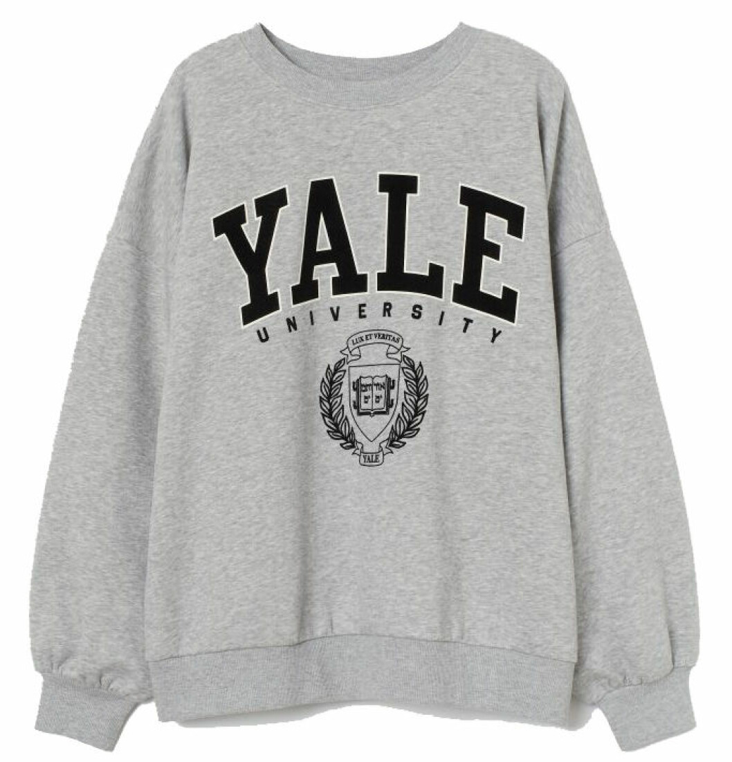 Collagetröja med texten YALE från H&M.