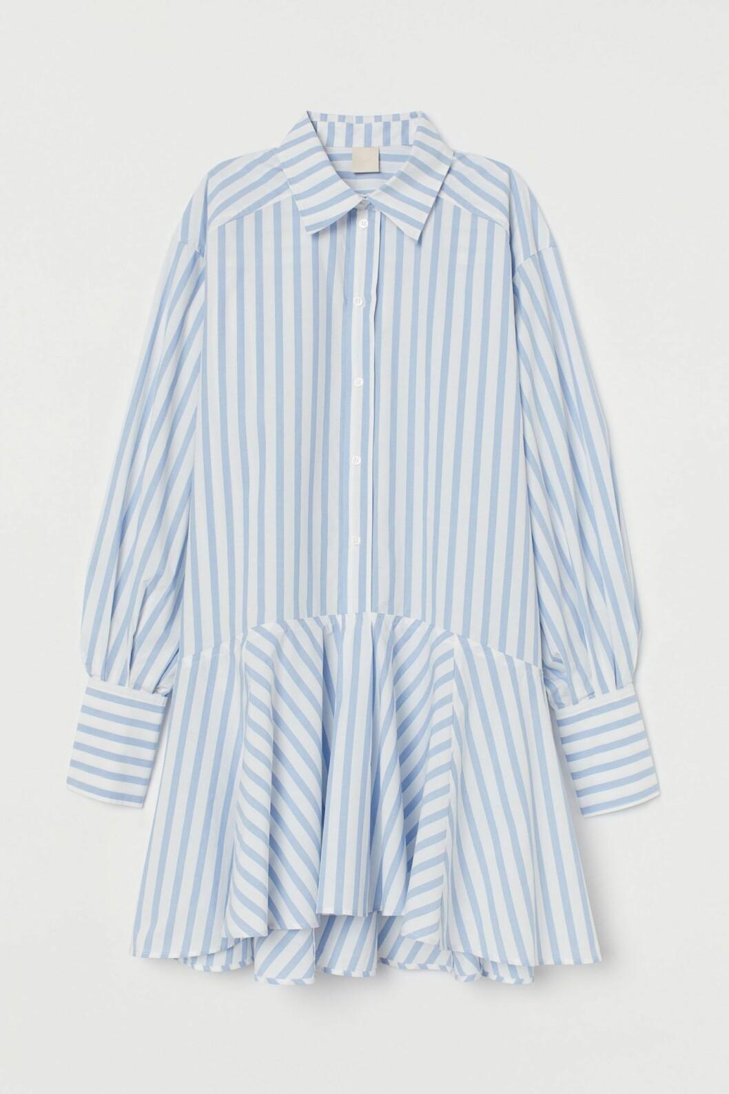 randig klänning från H&M.