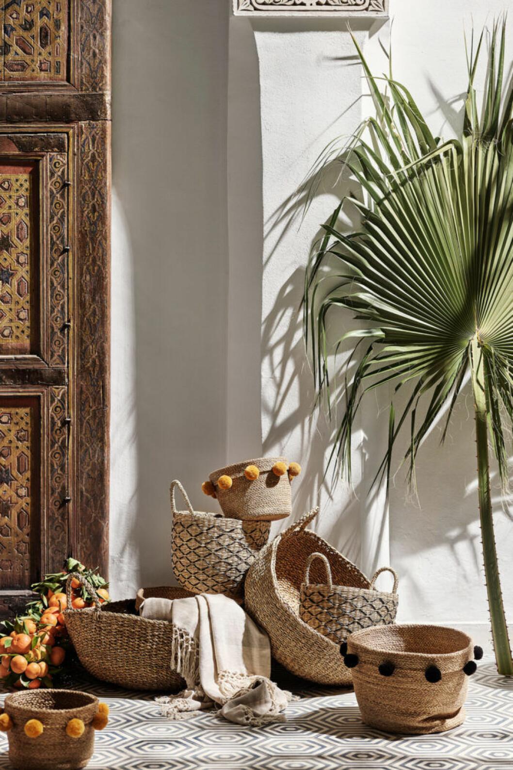 Fånga den marockanska stilen och inred med naturmaterial. Foto: H&M Home