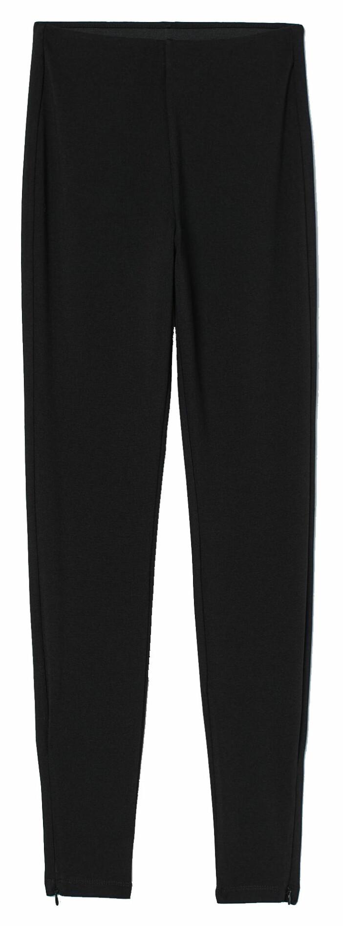 Högmidjade leggings från H&M med dold dragkedja nedtill
