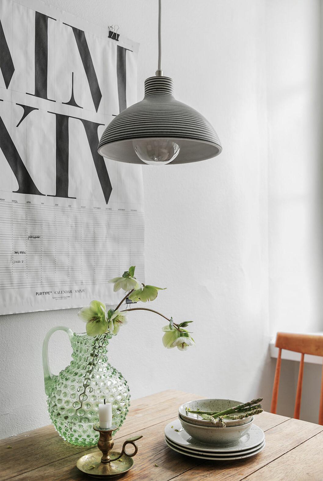 Gröna detaljer är trendigt i homestyling