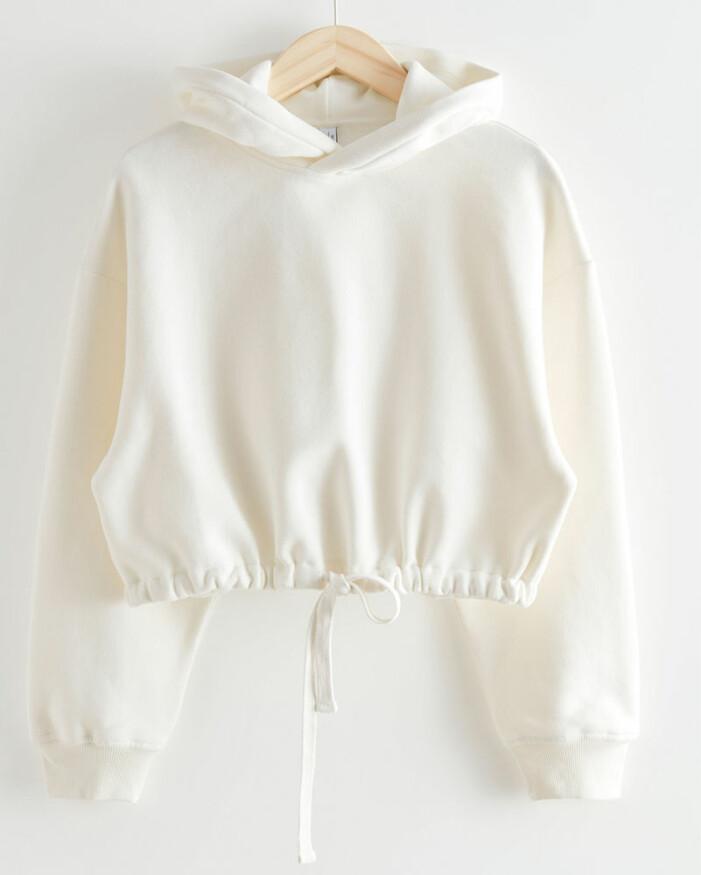 hoodie med dragsko