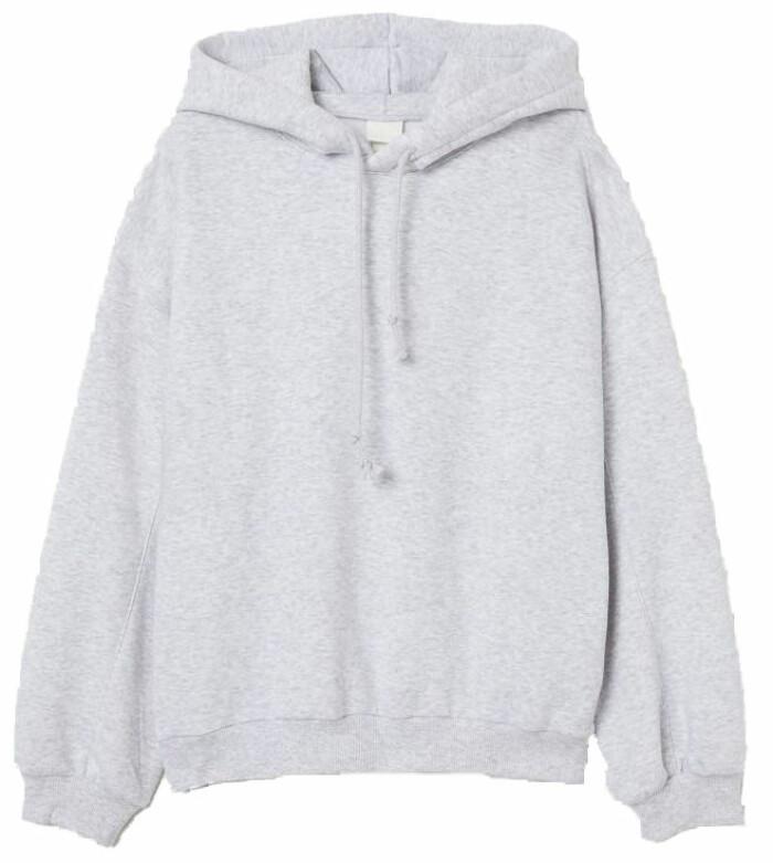 hoodie i grått från H&M