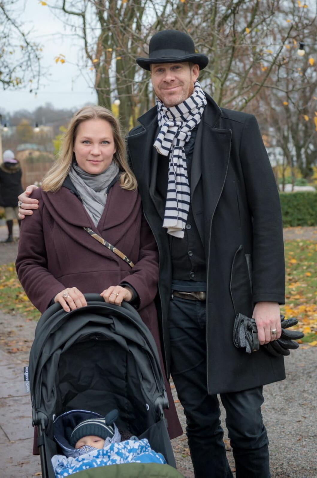 Malinda Damgaard med familj.