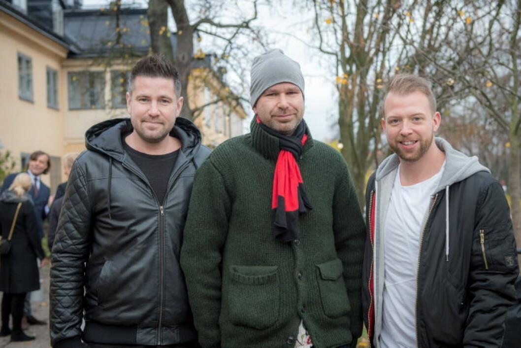 Håcan Andersson (mitten) med sällskap.