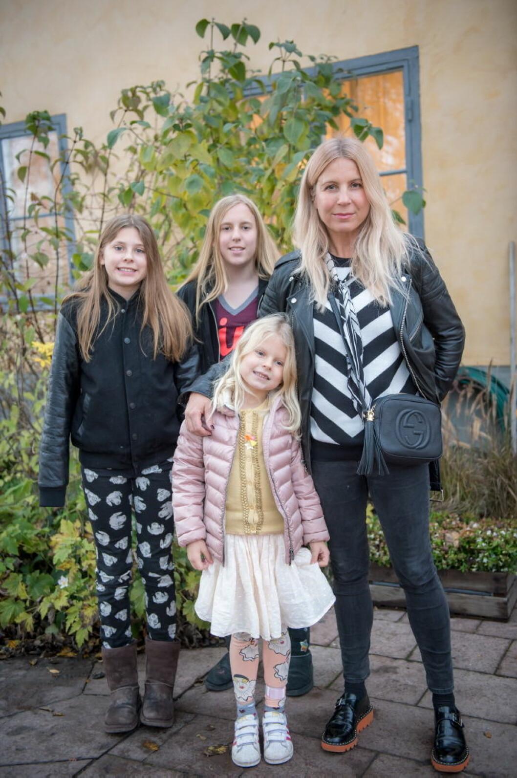 Nina, Mini och Lily Philipson.