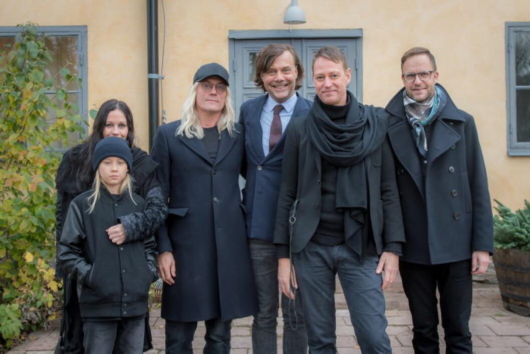 Ulrika och Robert Nilsson med son, Jonas Andersson, Thomas Hägg med man.