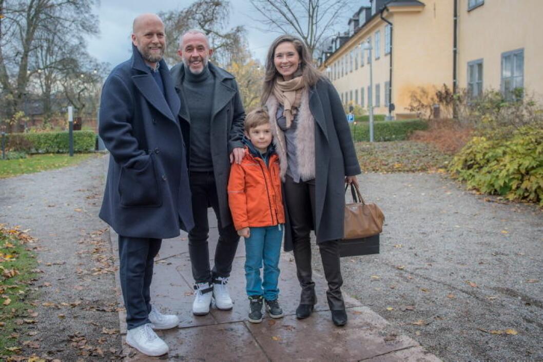 Kirstina och Caspar Backlund, Peter Carstens och Jocke Pettersson.