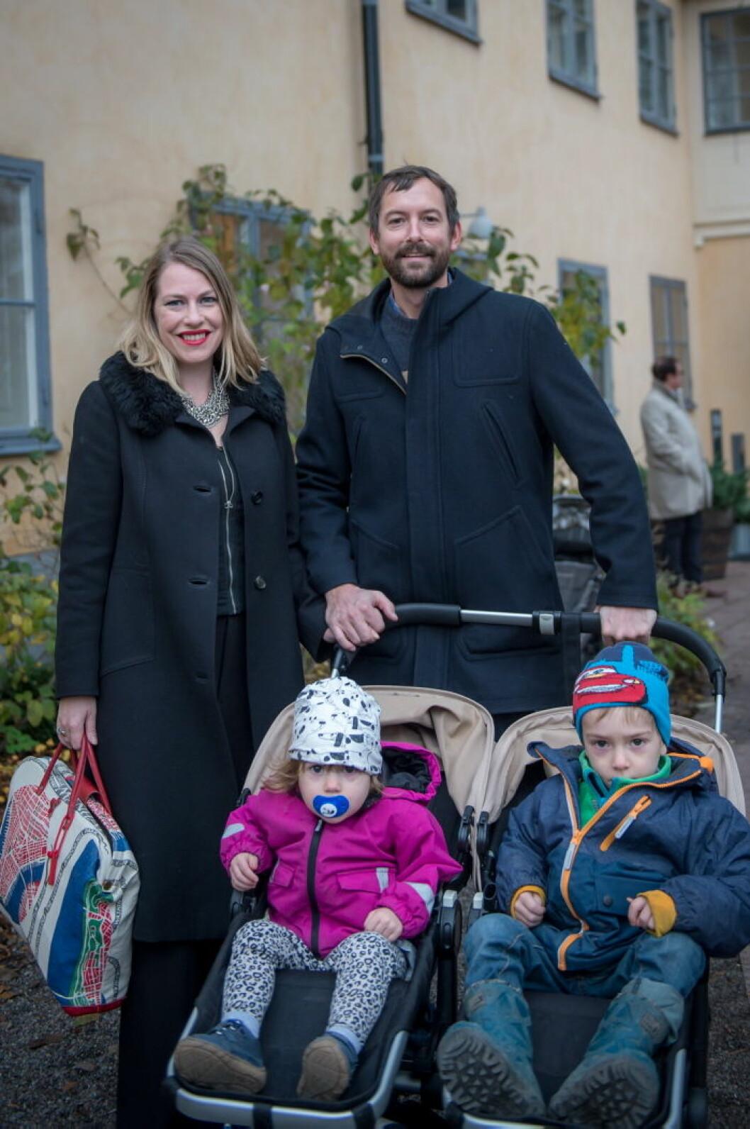 Sofia Breitholtz med familj.
