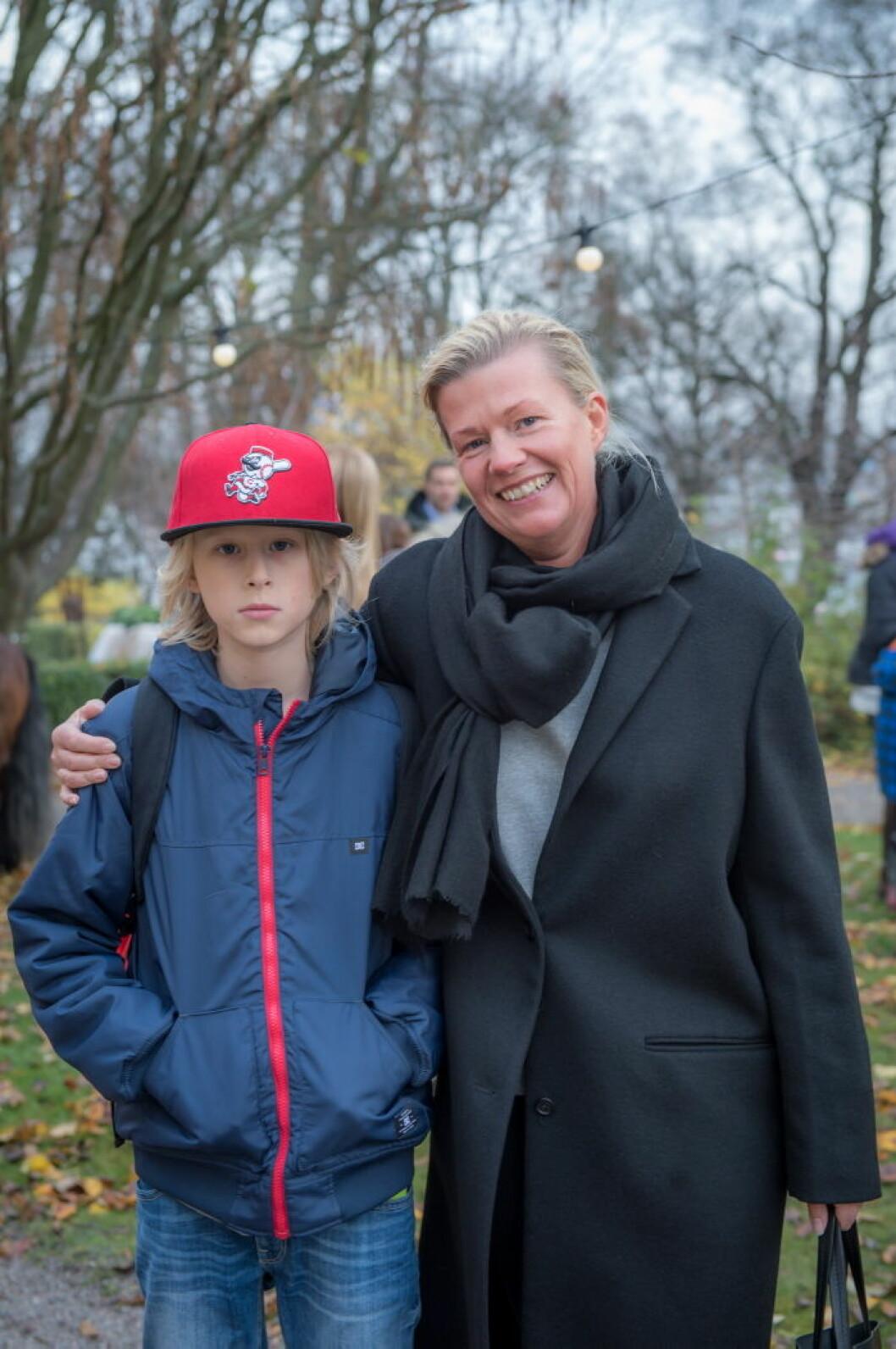 Fia Ekenryd med son.