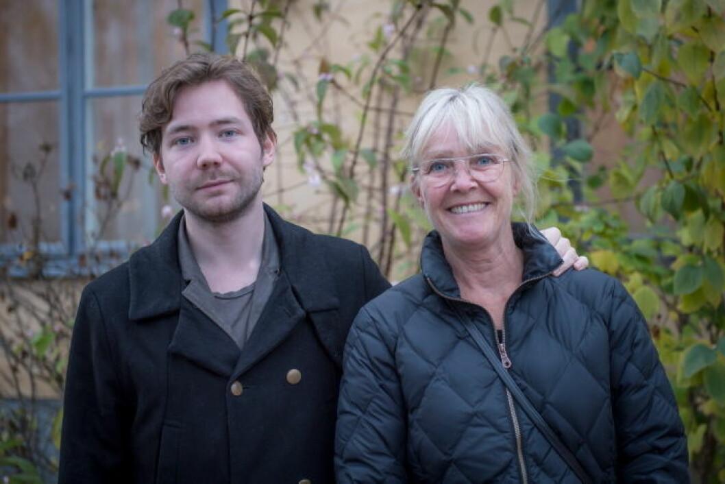 Ewa-Marie Rundqvist med son.