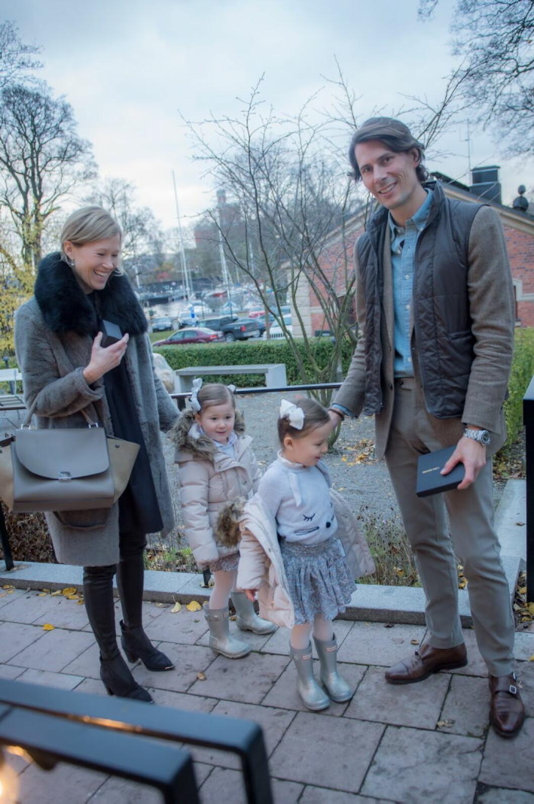 Viktor Blomqvist med familj.