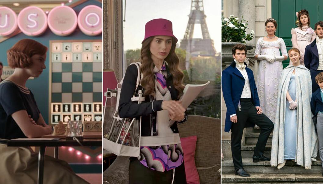The Queens Gambit, Emily in Paris och Familjen Bridgerton