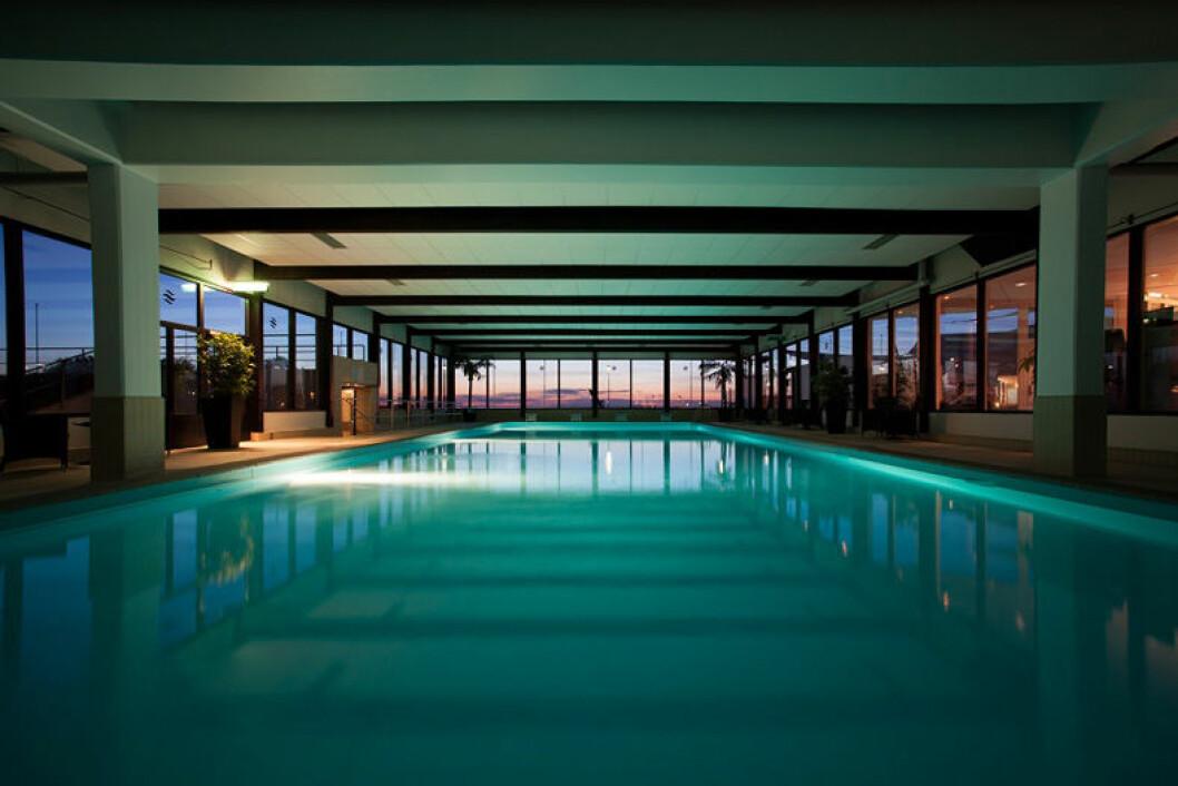 Pool inomhus Hotell Strand Borgholm