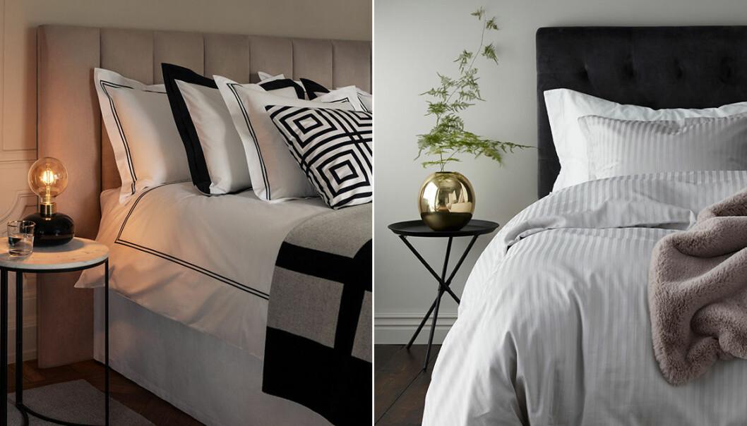 Sängkläder och påslakan i hotellstil
