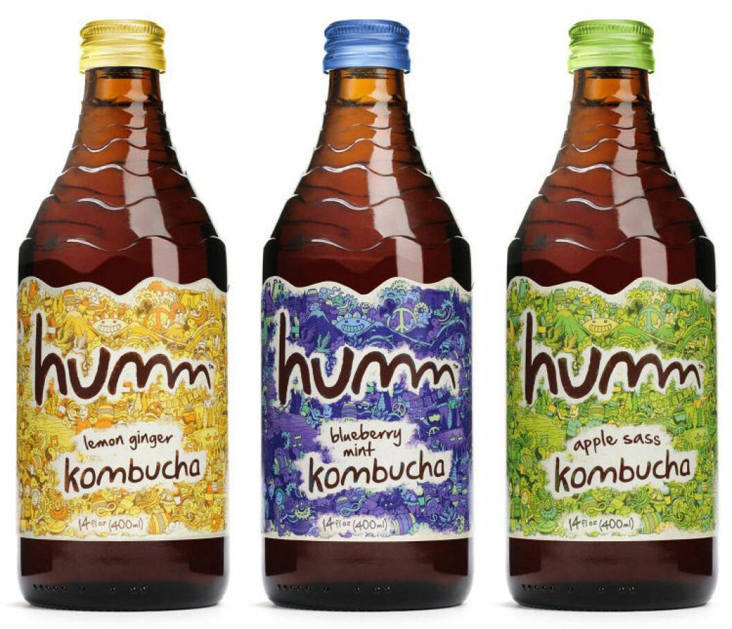 """Humm kombucha finns i flera goda smaker, där """"lemon ginger"""" är vår favorit."""