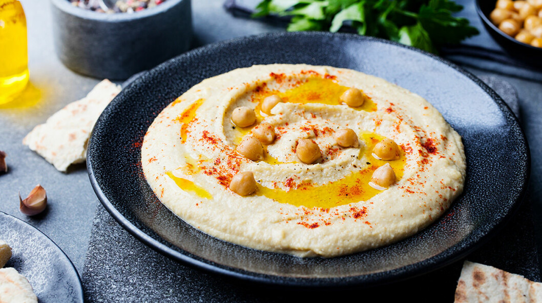 Hummus med kikärtor.